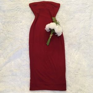 Tube Midi Dress (Burgundy)
